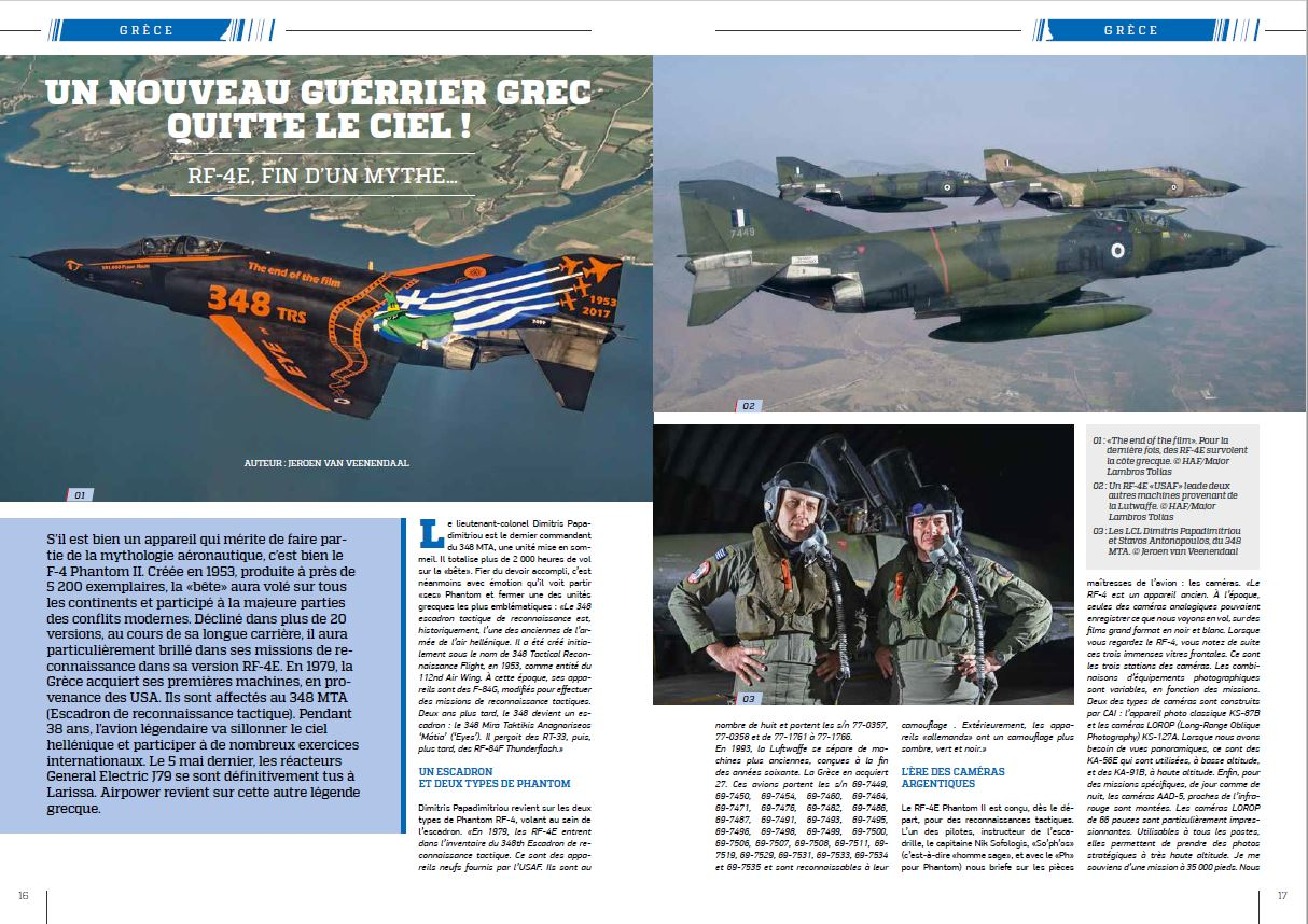Air Power magazine (France) - Hellenic RF-4E (2)