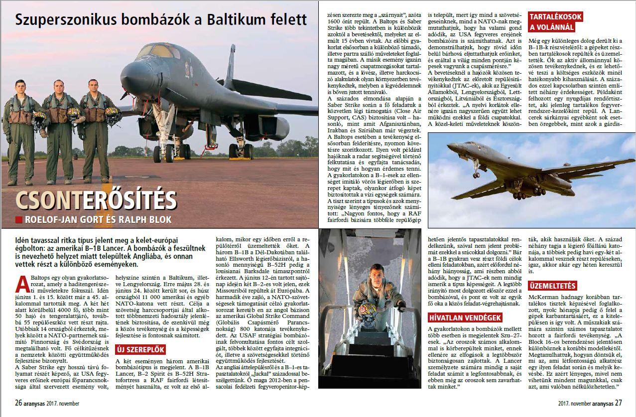 Aranysas (Hungary) - Baltops 2017 (page 26-27)