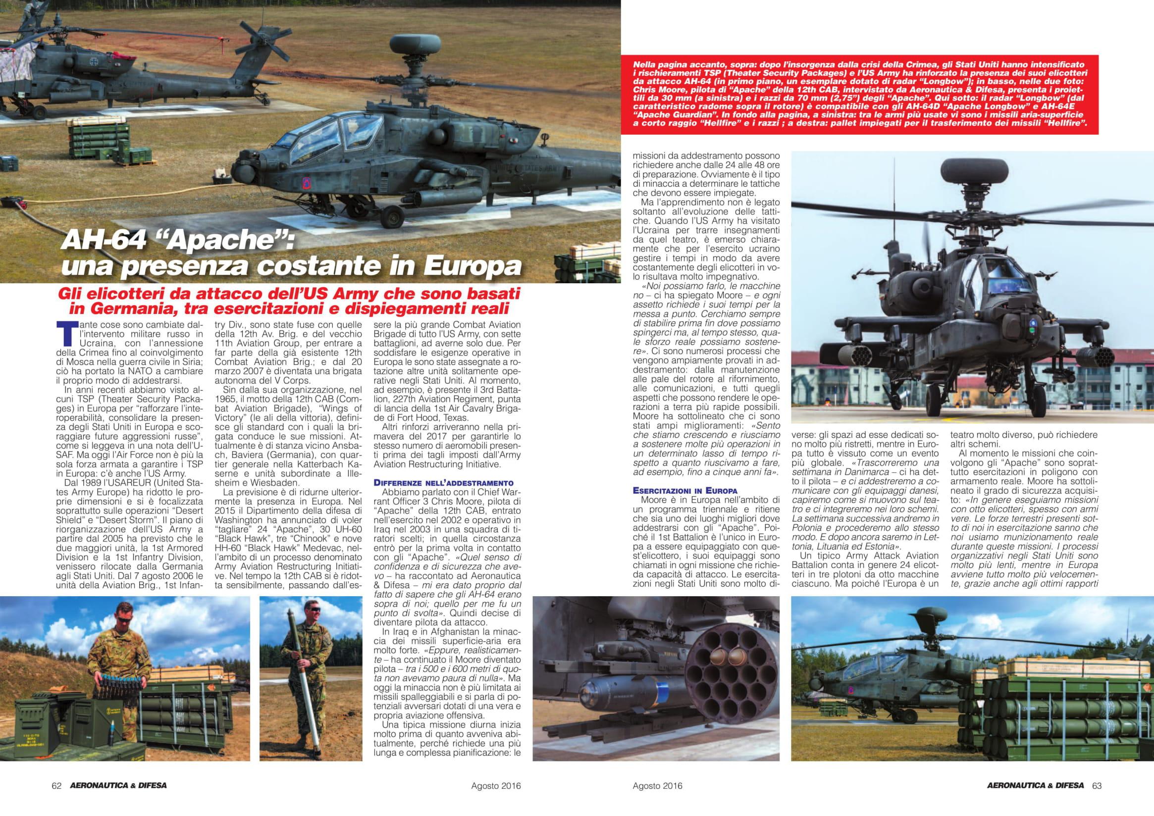 Aeronautica & Difesa (IT)_US Army Apaches in Europe-2
