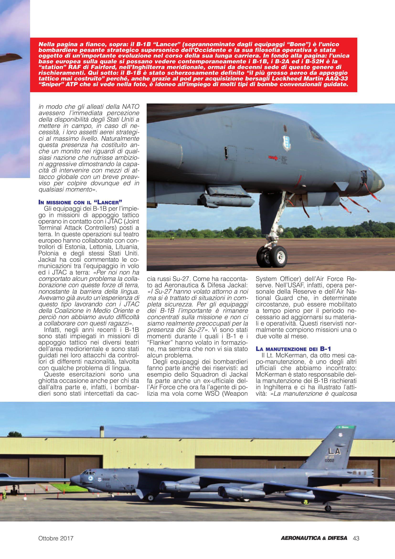 Aeronautica & Difesa (Italy)_Baltops & Saber Strike 2017-3