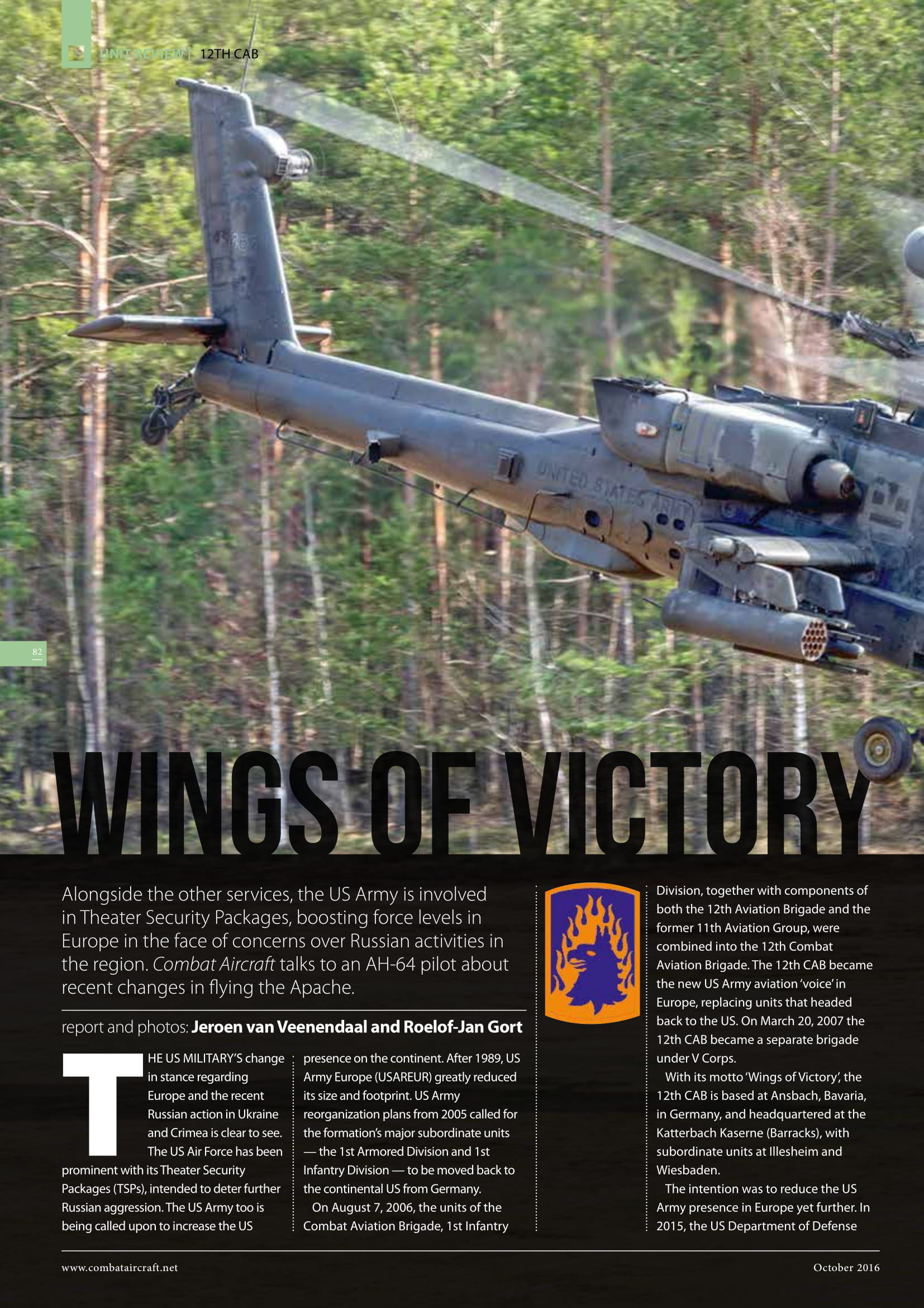 Combat Aircraft (UK)_US Army Apaches in Europe-2