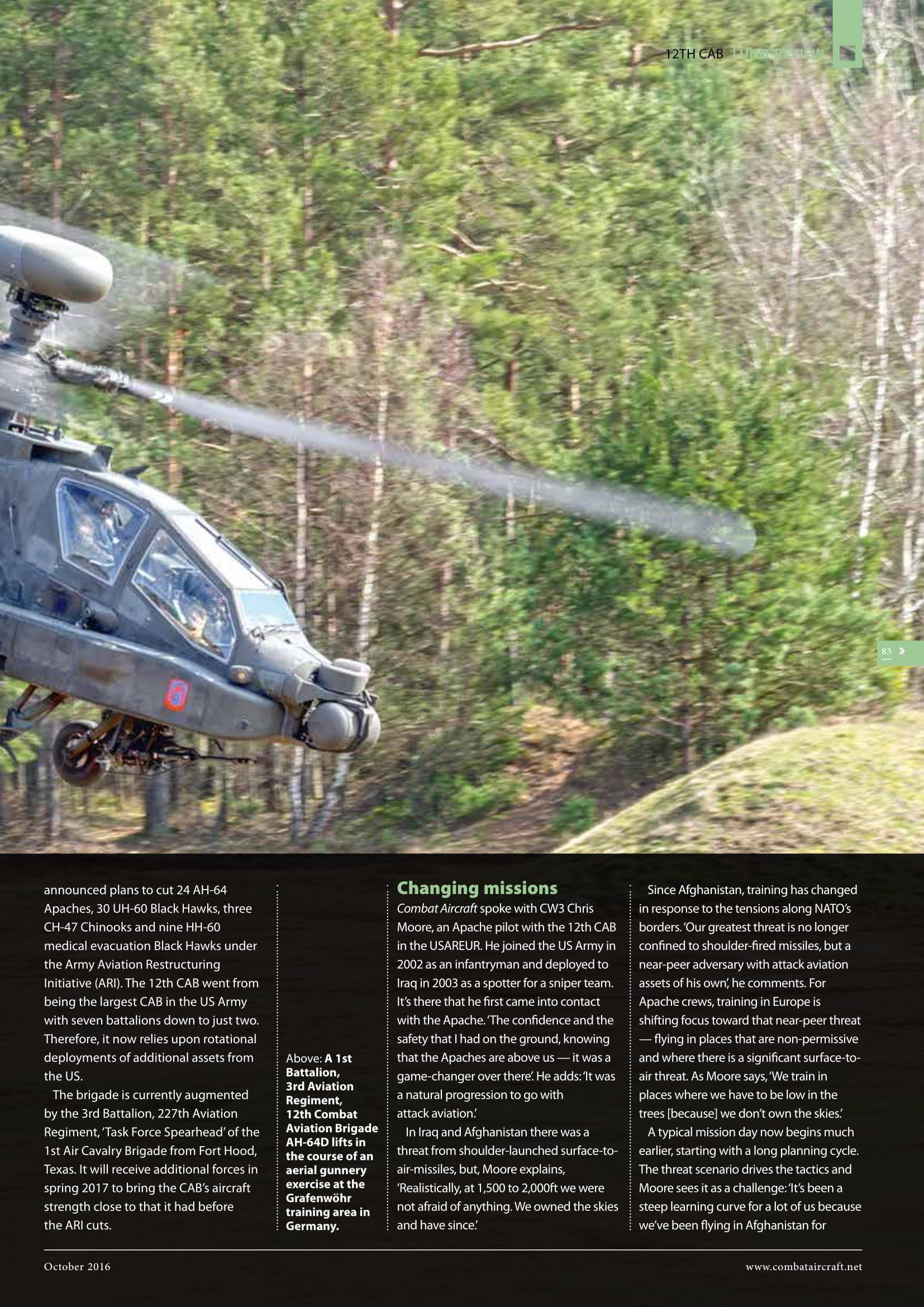 Combat Aircraft (UK)_US Army Apaches in Europe-3