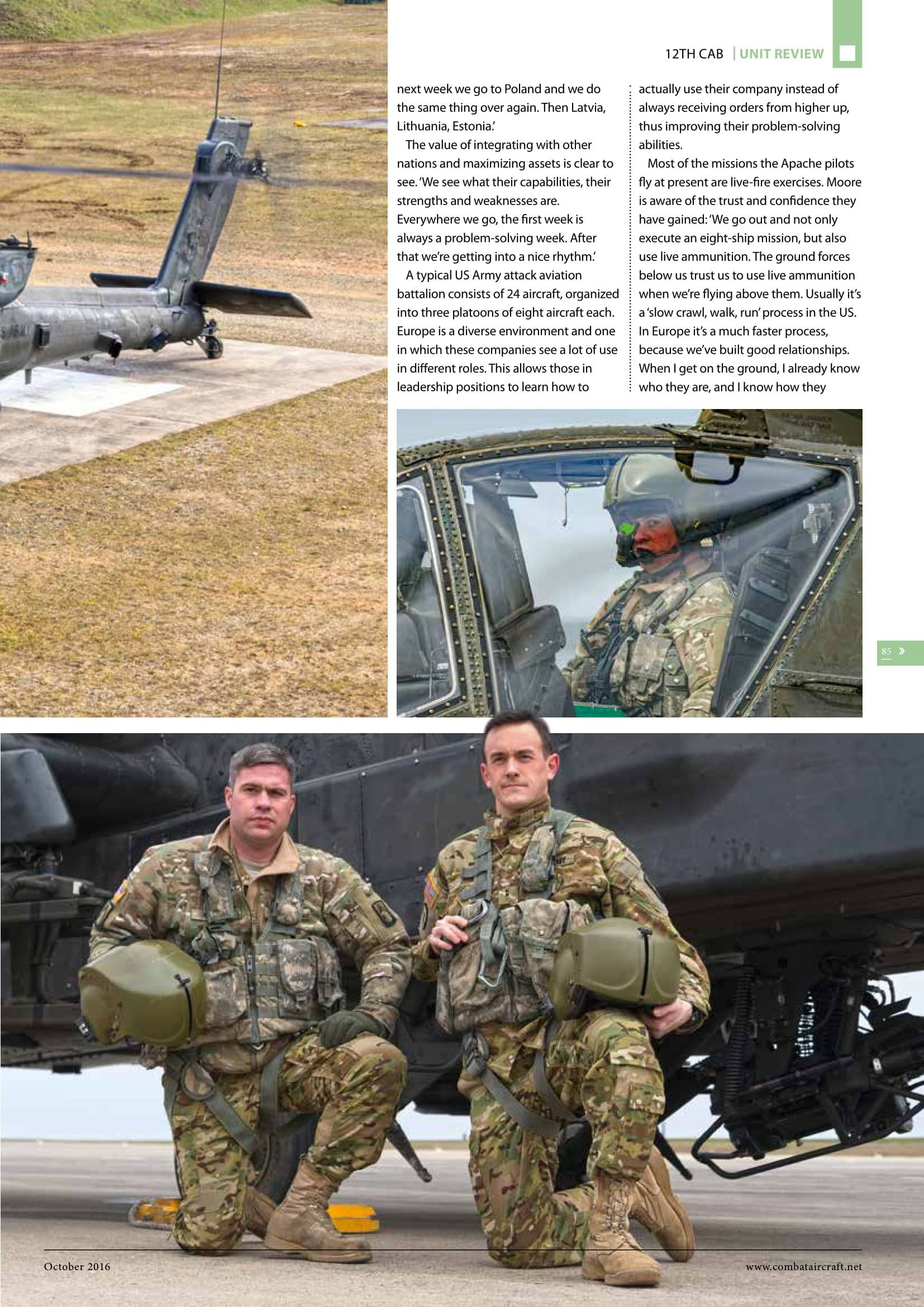 Combat Aircraft (UK)_US Army Apaches in Europe-5