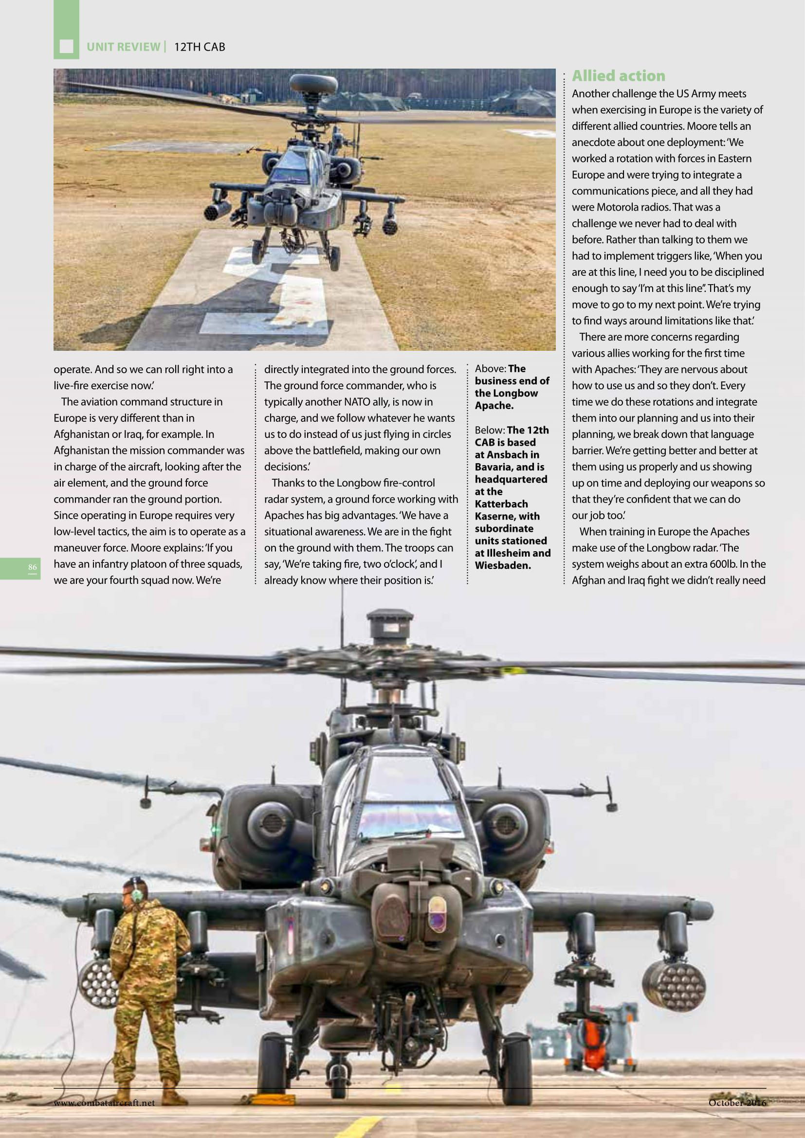 Combat Aircraft (UK)_US Army Apaches in Europe-6