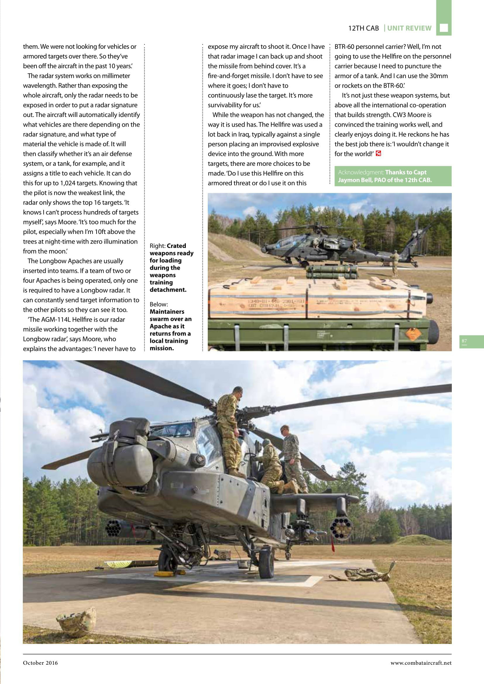 Combat Aircraft (UK)_US Army Apaches in Europe-7