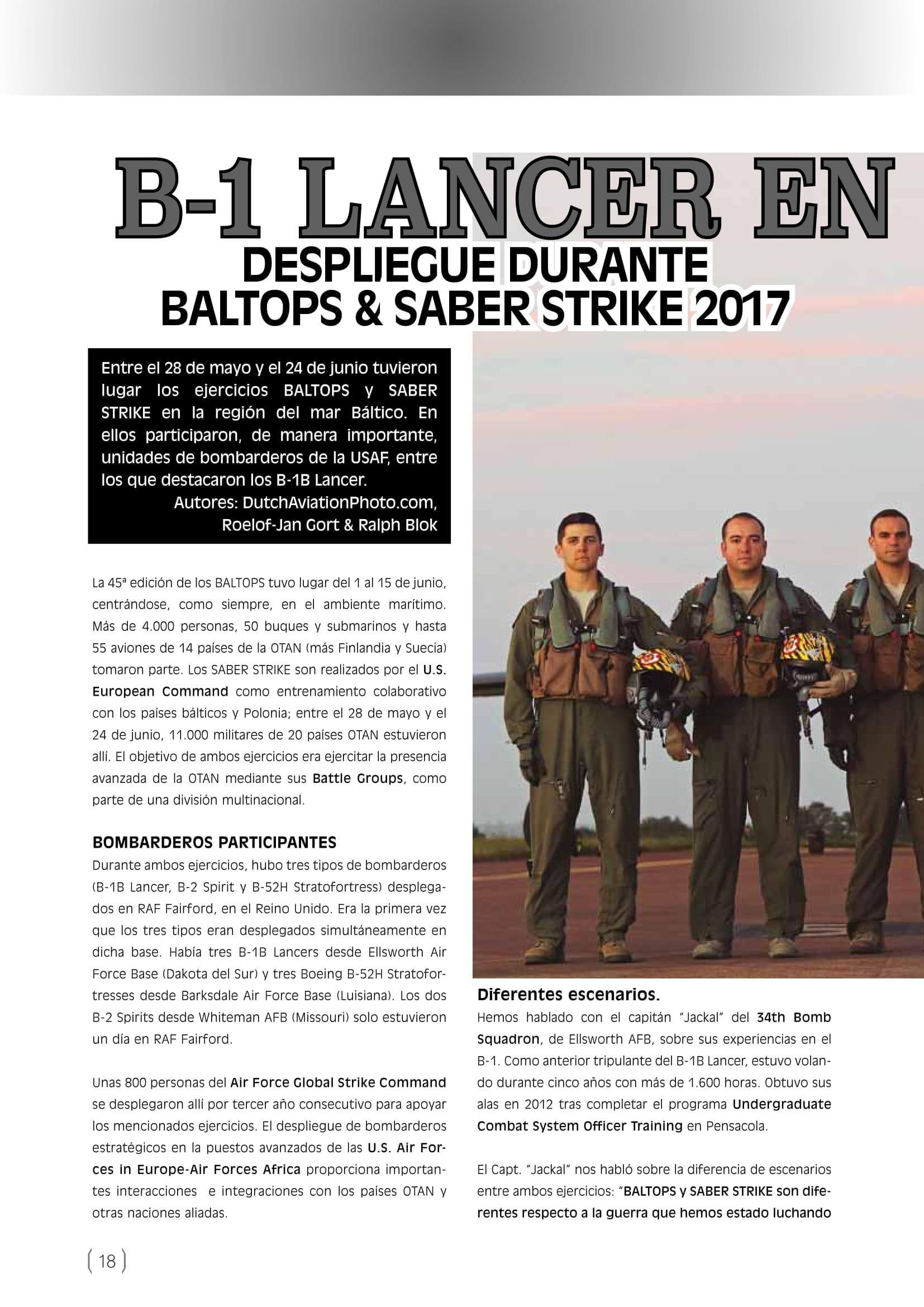 FAM (Spain)_Baltops & Saber Strike 2017-2