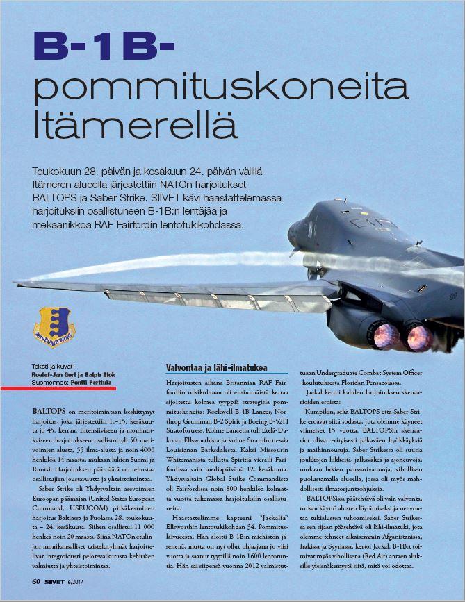 Siivet (Finland) - BALTOPS & Saber Strike 2017 (1)