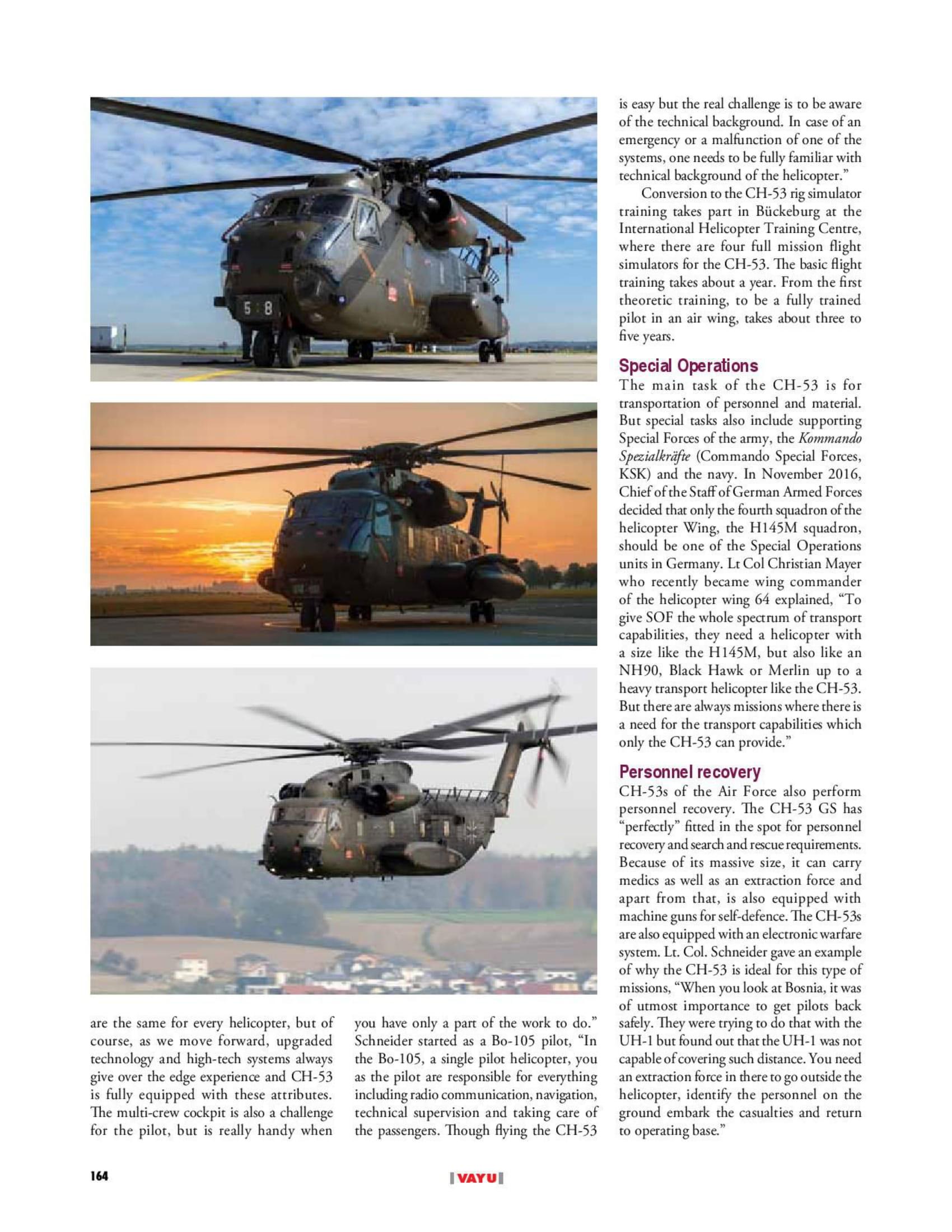 Vayu Aerospace & Defence Review (India) CH-53s HSG 64-3